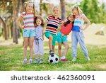 group of little friends playing ... | Shutterstock . vector #462360091