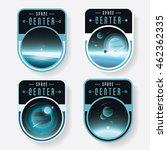 outer space logo badges set... | Shutterstock .eps vector #462362335