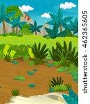 cartoon happy nature scene  ... | Shutterstock . vector #462365605