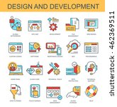 vector icons. design and... | Shutterstock .eps vector #462369511