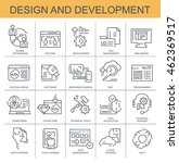 vector icons. design and... | Shutterstock .eps vector #462369517