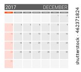 2017 December Calendar  Or Des...
