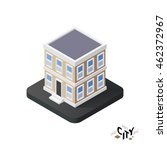 isometric townhouse flat icon... | Shutterstock .eps vector #462372967