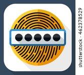 vector fingerprint password icon | Shutterstock .eps vector #462378529