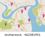 vector flat abstract city map... | Shutterstock .eps vector #462381901