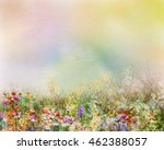 Abstract Oil Painting Flowers...