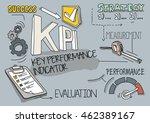 kpi   key performance indicator ...   Shutterstock .eps vector #462389167