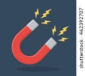 red horseshoe magnet sign.... | Shutterstock .eps vector #462392707