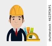 man helmet rules color vector...   Shutterstock .eps vector #462393691