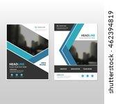 blue vector annual report... | Shutterstock .eps vector #462394819