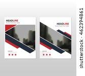 red black vector annual report... | Shutterstock .eps vector #462394861