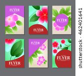 set of rectangular cards with... | Shutterstock .eps vector #462401641