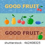 set of horizontal banners with...   Shutterstock .eps vector #462408325