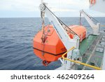 Lifeboat On Deck Of A Tanker...