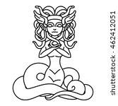 flat linear medusa gorgona... | Shutterstock .eps vector #462412051