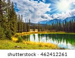 sunny autumn day in jasper... | Shutterstock . vector #462412261