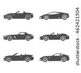 silhouette cport car set | Shutterstock .eps vector #462421504