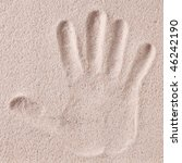 Photo Shot Of  Hand Print In...