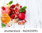 apple and honey  traditional... | Shutterstock . vector #462423391