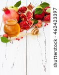 apple and honey  traditional... | Shutterstock . vector #462423397