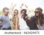 friends dancing to their... | Shutterstock . vector #462424471