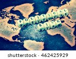 political risk on grunge world... | Shutterstock . vector #462425929