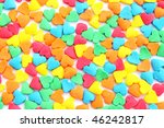 Texture from the many-colored candies - stock photo