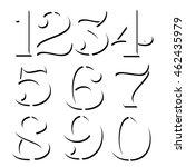 vector custom design numbers on ... | Shutterstock .eps vector #462435979