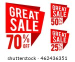vector stock of great sale icon ... | Shutterstock .eps vector #462436351