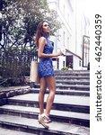 beautiful stylish young woman...   Shutterstock . vector #462440359