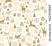 christmas seamless pattern with ...   Shutterstock .eps vector #462443869