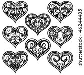 black valentine heart