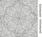 seamless pattern of hand drawn... | Shutterstock .eps vector #462446131