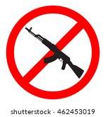 no gun sign and symbol   Shutterstock .eps vector #462453019