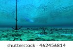 3d Illustration Of Underwater...
