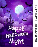 greeting card for halloween.... | Shutterstock .eps vector #462462574