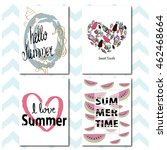 hello summer. set of summer... | Shutterstock .eps vector #462468664