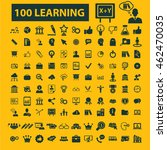 learning icons | Shutterstock .eps vector #462470035