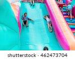 happy children having fun on... | Shutterstock . vector #462473704