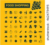 food shopping icons | Shutterstock .eps vector #462475495