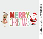 christmas card with santa claus ... | Shutterstock .eps vector #462484069