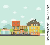 small urban town life... | Shutterstock .eps vector #462487705