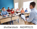 education  school and people... | Shutterstock . vector #462495121