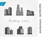 building icons | Shutterstock .eps vector #462501394