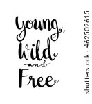 young  wild and free on white... | Shutterstock .eps vector #462502615
