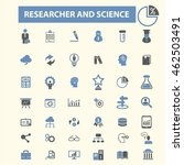 researcher and science icons | Shutterstock .eps vector #462503491