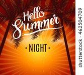 summer night dance party. beach ... | Shutterstock .eps vector #462504709