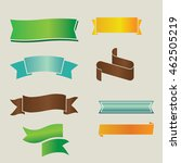 set of retro ribbons and labels.... | Shutterstock .eps vector #462505219