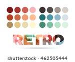 retro color sample palette ... | Shutterstock .eps vector #462505444