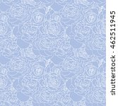 rose blue pattern. floral... | Shutterstock .eps vector #462511945